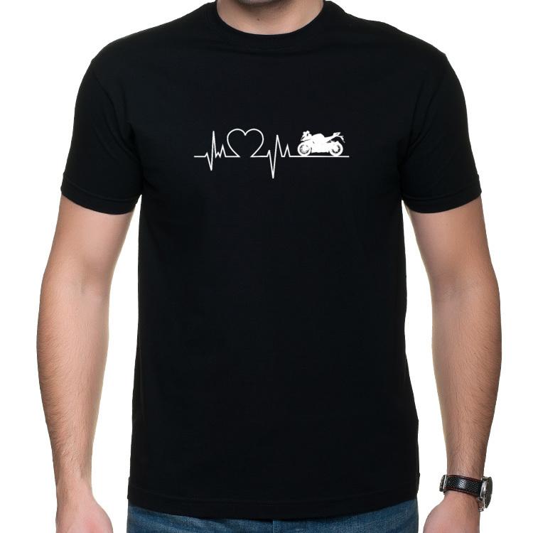Motocyklowa linia życia - koszulka z nadrukiem