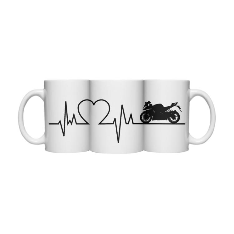Motocyklowa linia życia - kubek z nadrukiem